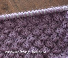 Diagonal Basketweave Cable Stitch pattern