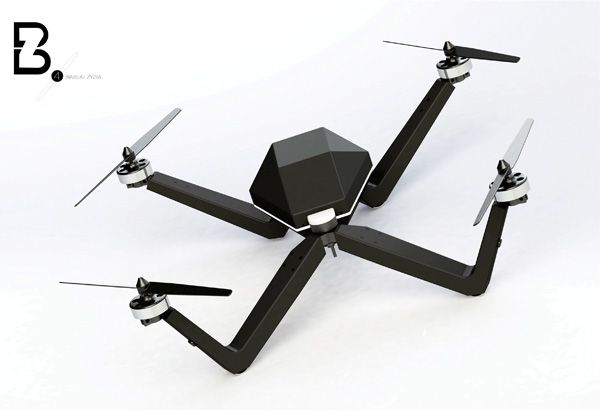 Quadrocopter BZ-4 - Copter by Simona Gluskeviciute - The unpiloted hang-glider...