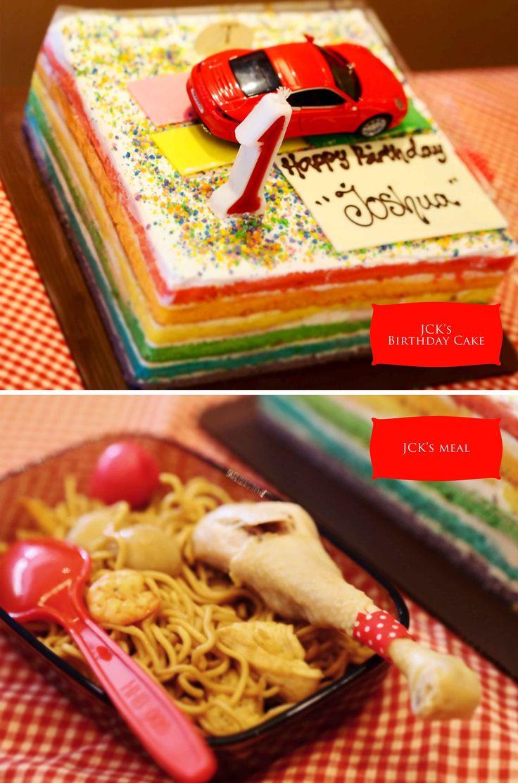 Joshua's birthday cake. brommm broommm say joshua's car.
