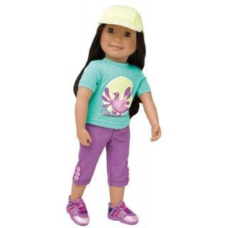 Ptarmigans Rock!: Saila really rocks this ptarmigan outfit! Her outfit includes a Rock Ptarmigan bird graphic printed on her t-shirt, a pair of capris with button details and a co-ordinating baseball hat.