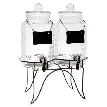 Check out this item at One Kings Lane! Twin Chalkboard Hammered Dispensers
