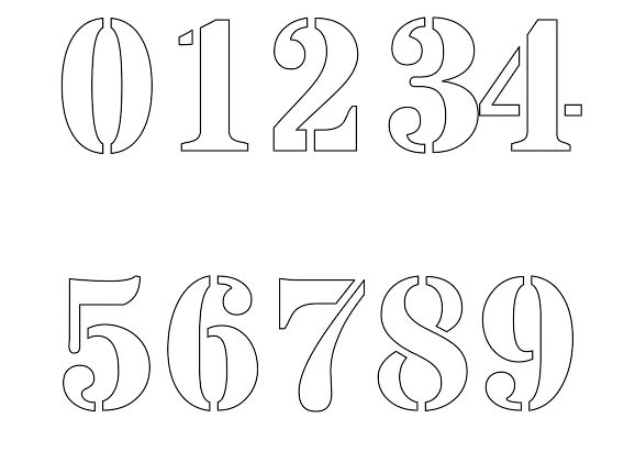 letter and number stencils for painting free printable number stencils for painting 24227 | 331c902dc6d45f2276661b2efe124b7f free printable numbers number stencils