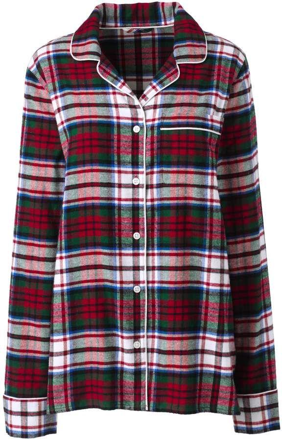 9b47b2ef917 Lands  End Lands end Women s Plus Size Long Sleeve Print Flannel Pajama Top
