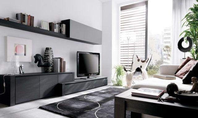 meuble télé élégant en noir