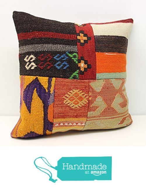 Decorative Patchwork kilim pillow cover 18x18 inch (45x45 cm) Handmade Kilim pillow cover Sofa Decor Accent Hand woven Cushion Cover https://www.amazon.com/dp/B01NAMEJYT/ref=hnd_sw_r_pi_dp_z3KxybZDXMPS9 #handmadeatamazon