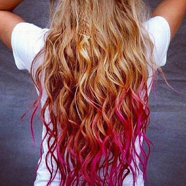 Blond Hair Pink Tips Lovely Hair Pinterest Blond