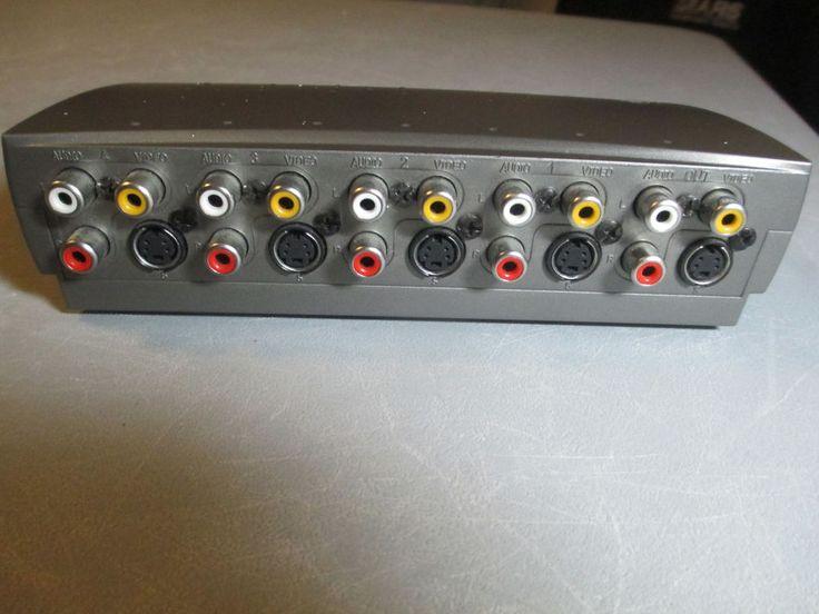 GE AV93294 RCA Jacks S-Video Connectors TV Audio Video Switch #GeneralElectricGE