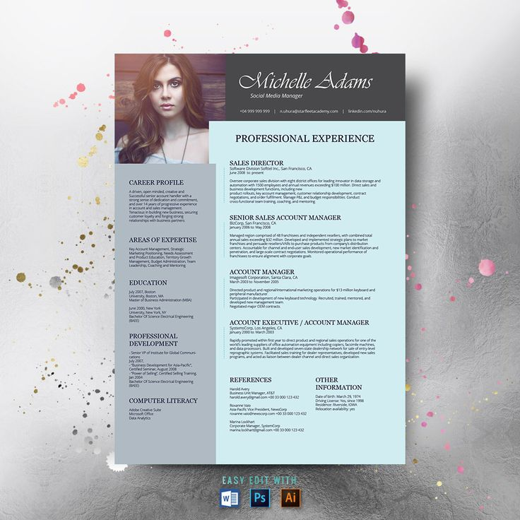 #Resume Template and #FREE Cover Letter, #Resume Word, #Photo Resume, #Teacher Resume, #Professional Resume, #Creative Resume, #Picture Resume