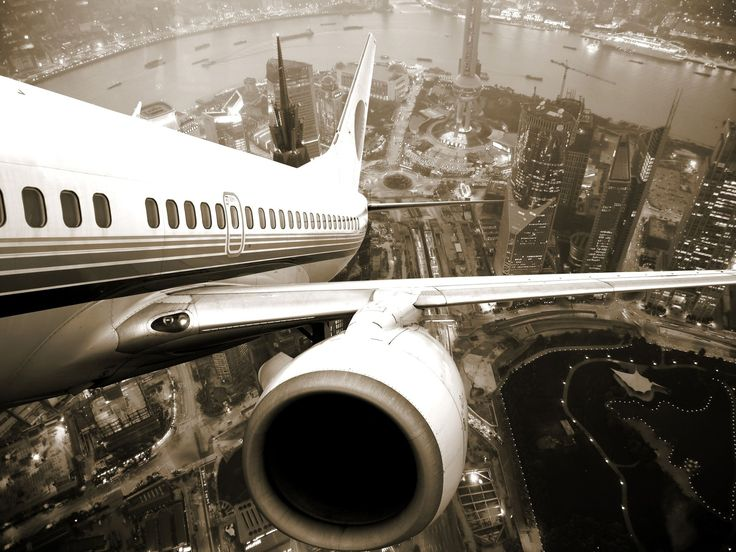 Airplane Take Off From Shanghai
