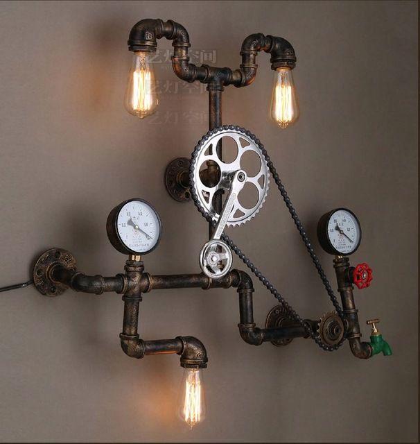 Лампы стены светильники старинные промышленное освещение стиле лофт металл эдисон стены ретро передач ось