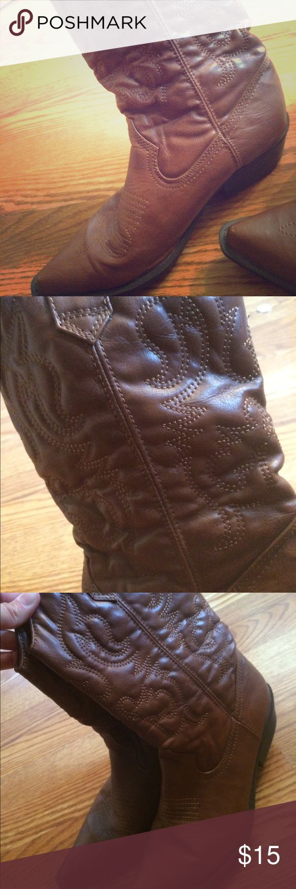 Madden Girl cowboy boots Worn once! Madden Girl Shoes