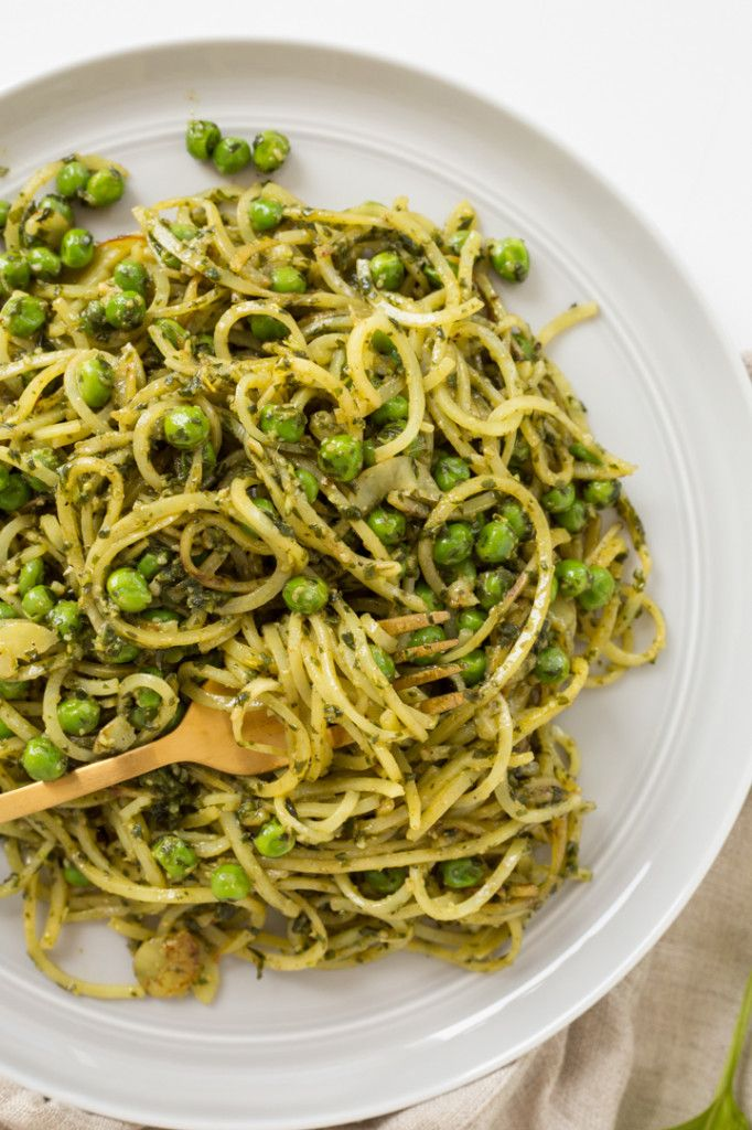 Peas and Pesto Potato Noodles - delicious and very easy! Used pre-made pesto to decrease the prep time. Ate as a side dish to salmon.
