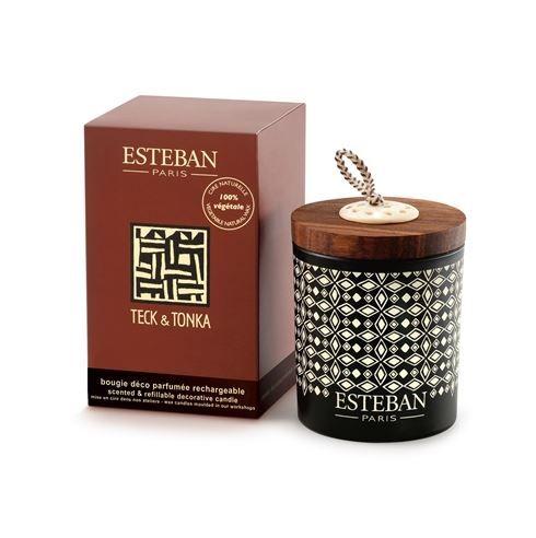 Esteban Paris TECK & TONKA Scented & Refillable Decorative Candle