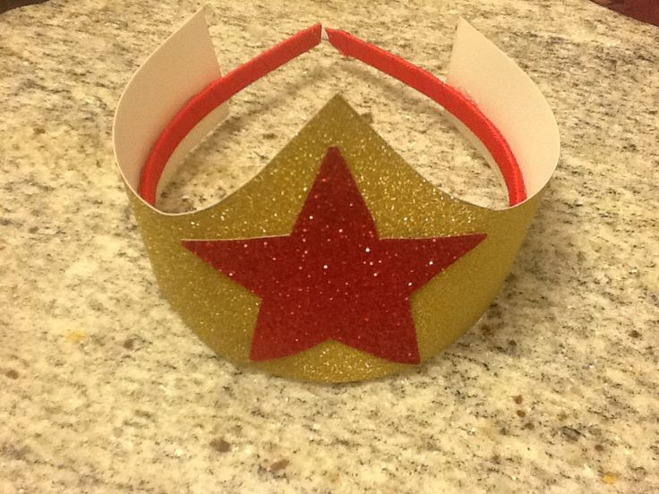 Wonder Woman crown / hat by PrincessesNeeded on Etsy, $4.99