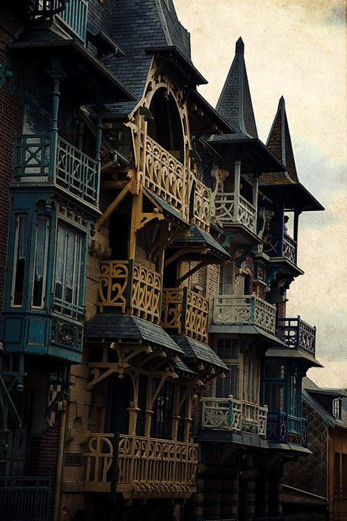Balconies, Treport, France
