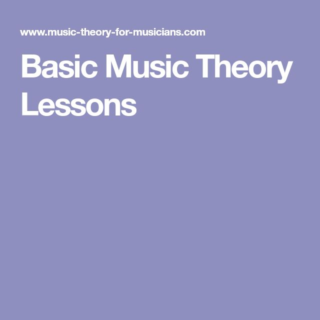 Basic Music Theory Lessons