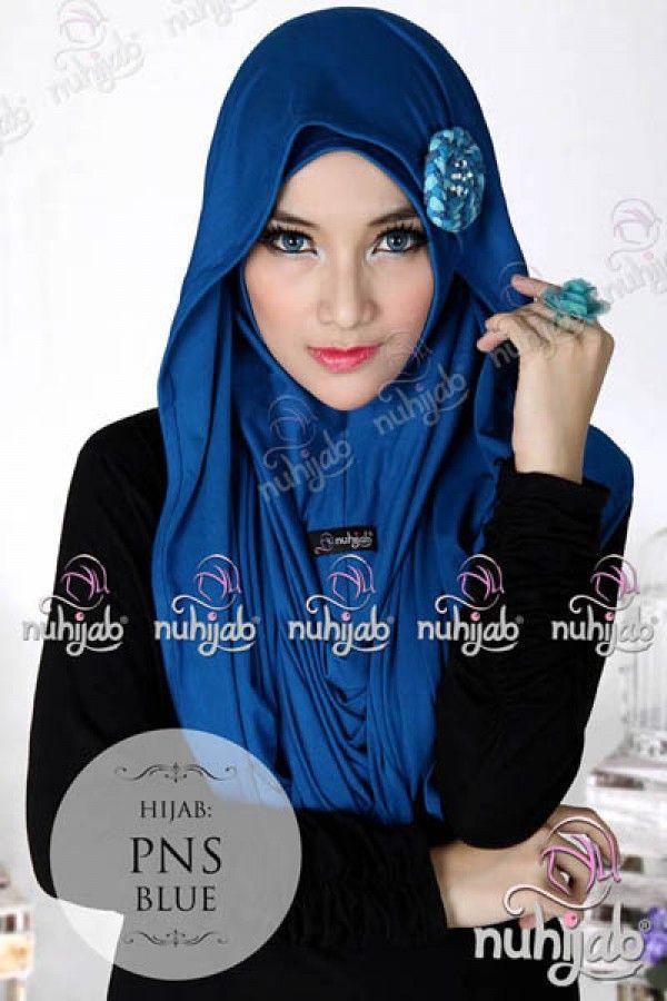 Nuhijab Pns - Blue Rp. 95.000 Order sms/wa 082328384495