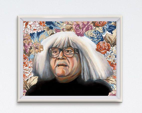 Frank Oil Painting Danny Devito Art Print It S Always Sunny In Philadelphia Floral Painting Ango Gobloggian Funny Art Iasip Funny Art Prints Floral Painting Funny Art