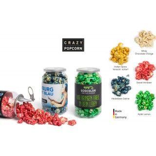 Farbiges Popcorn als Werbeartikel