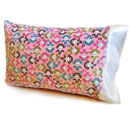 Kids Pillowcases / Jungle Monkey / Minky Pillowcases / Toddler Pillow Case\u2026