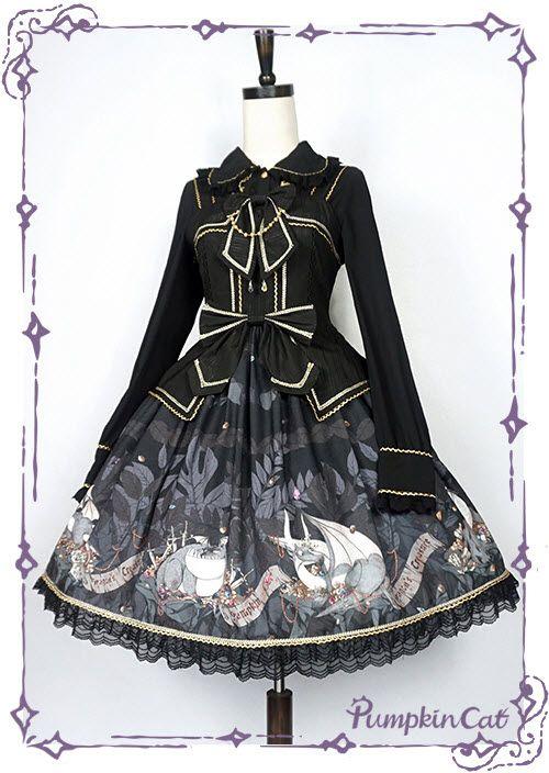 #Leftovers: There're 4 【Pumpkin Cat -Dragon's Treasure- Lolita Jumper Dresses (Type I)】Available
