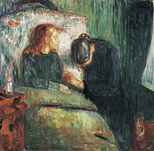Edvard Munch. The Sick Child, 1907, Oil on canvas, 119 x 122 cm. Munch Museum, Oslo, Norway.