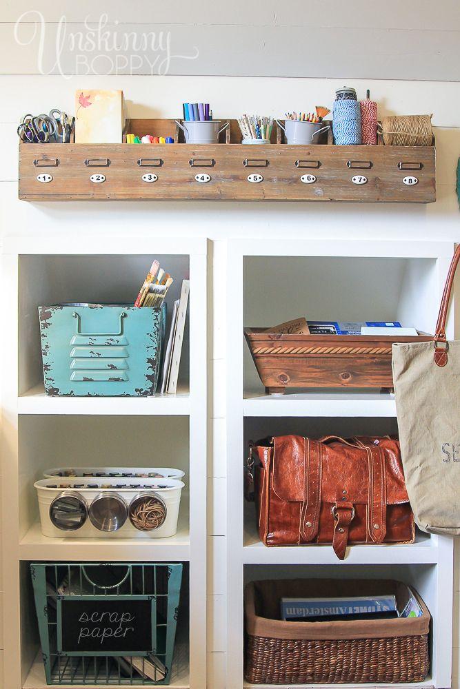 creative thrifty small space craft room organization ideas - Craft Desk Ideas
