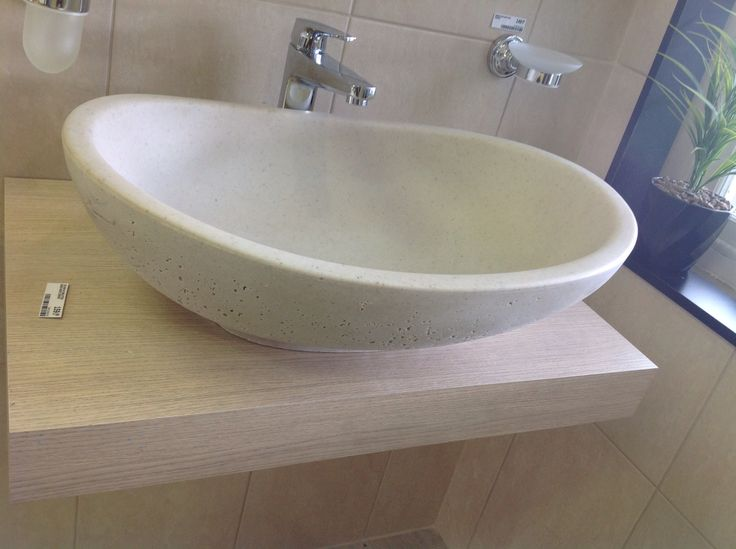 Stone basin for the bathroom (it's not real stone, I think)