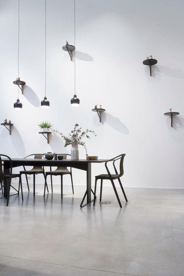 black dining set near white wall photo - Free Interior ...