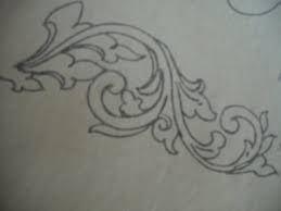 Hasil gambar untuk sketsa motif ukiran jawa