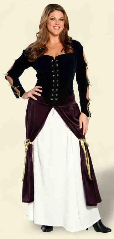 Plus Size Lady Musketeer Renaissance Costume - Candy Apple Costumes - Renaissance Costumes