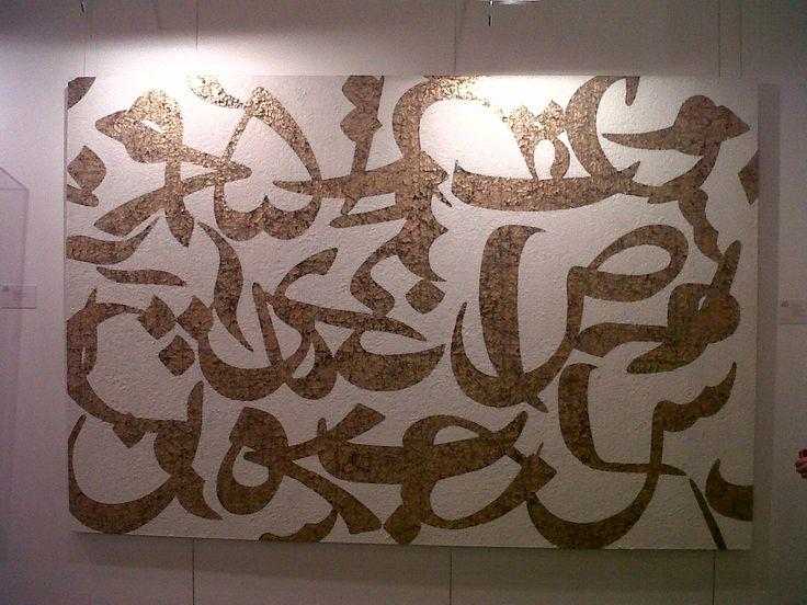 Farhad Moshiri's 2005 mixed media on canvas,