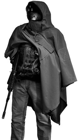 Think Ponchos aren't exciting? Maybe you've never seen the Hazard4 Poncho Villa Technical Soft Shell Poncho. (Not to be confused with Pancho Villa--the Mexican Revolutionary General.)  I've always carried a Poncho in my BOB and car bag. I like them because they're more versatile than a rain