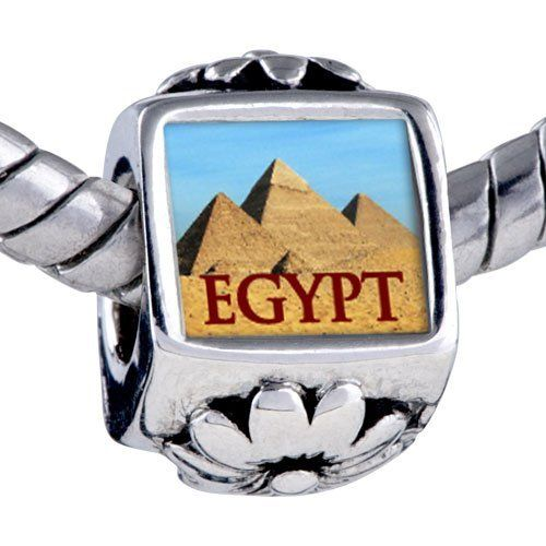 Pugster Silver Plated Photo Bead Travel-Pyramids Photo Flower European Charm Beads Fits Pandora Bracelet Pugster. $12.49. Fit Pandora, Biagi, and Chamilia Charm Bead Bracelets. Bracelet sold separately. It's the photo on the flower charm. Unthreaded European story bracelet design. Hole size is approximately 4.8 to 5mm