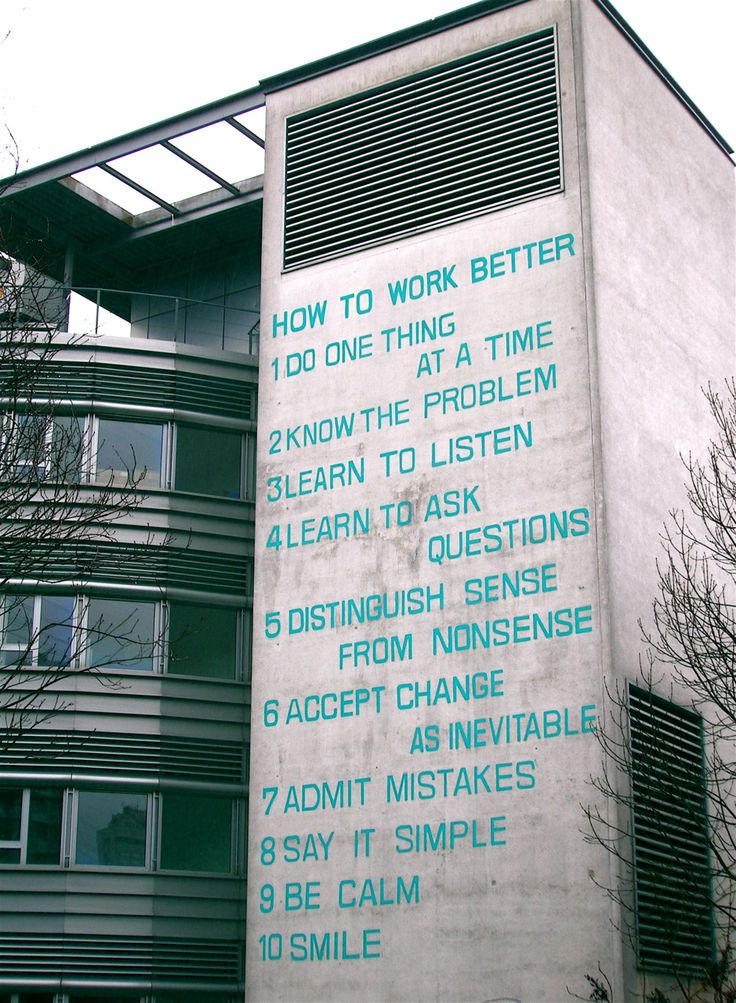 How to work better (1991) by Peter Fischli and David Weiss