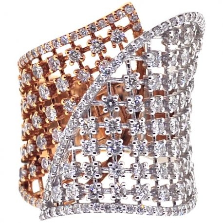 Womens Diamond Lattice Wrap Ring 18K Two Tone Ring 2.66 ct at http://www.24diamonds.com/womens-diamond-lattice-wrap-ring-18k-two-tone-ring-2-66-ct_30089.html