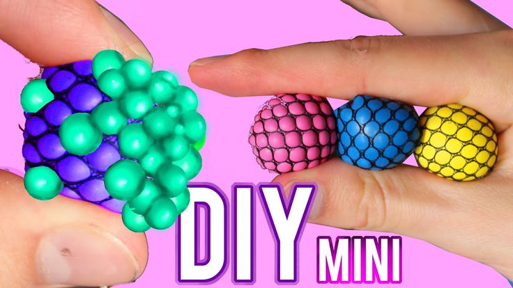 DIY Mini Squishy Mesh Stress Ball! Changes Color Stress Ball! - YouTube