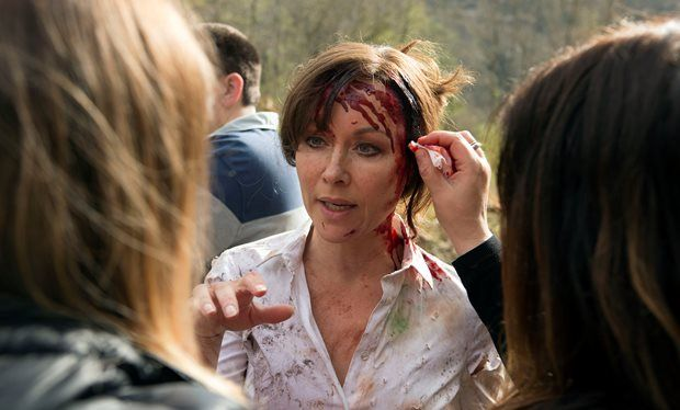 "Amanda Mealing on filming Casualty's 30th anniversary - ""I spent a week getting…"