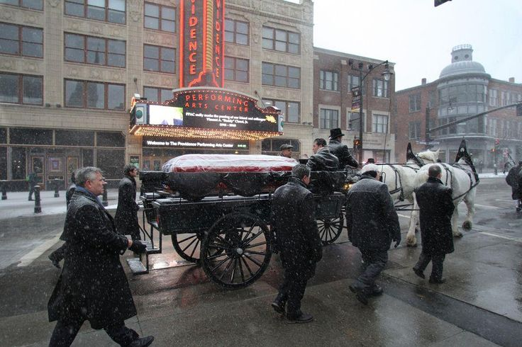 "PROVIDENCE, R.I. — A horse-drawn carriage carrying the casket of former Mayor Vincent A. ""Buddy"" Cianci has left Providence City Hall on"