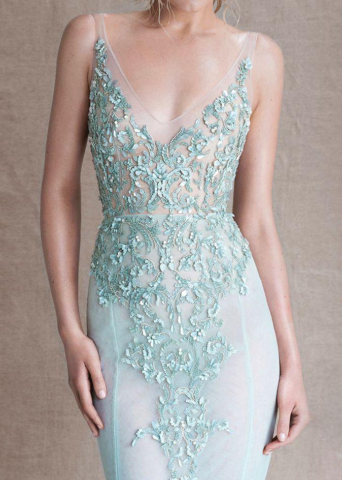 Paolo Sebastian- mint gown