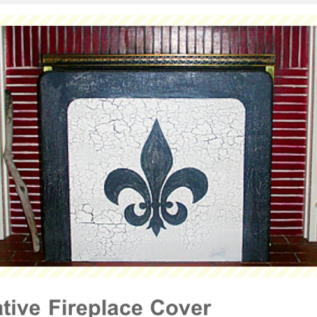 Diy decorative fireplace cover fireplace screens Decorative fireplace covers
