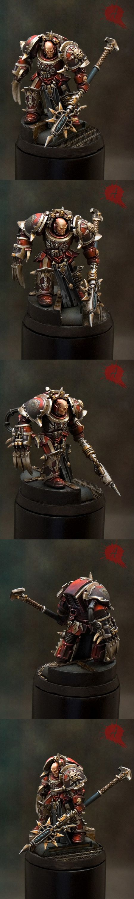Warhammer 40k Single Miniature Golden Deamon 2011 Winner, Madrid