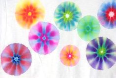 Sharpie Tie-Dye Shirts {Tutorial} - Happiness is Homemade/ cute for onesies, fabric for pillows etc