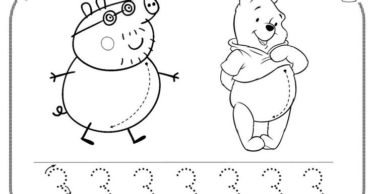 Como nos gusta tanto Peppa Pig, la seño Fini nos ha enseñado a hacer el trazo curvo como si fuera la barriguita de Papá Pig y de Winnie the...