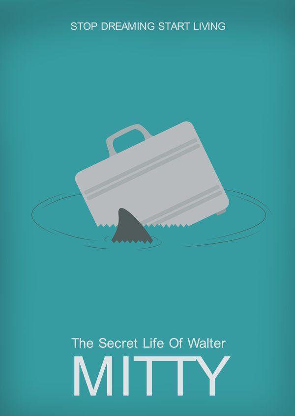 The Secret Life of Walter Mitty (2013) ~ Minimal Movie Poster by Aakriti Gupta #amusementphile