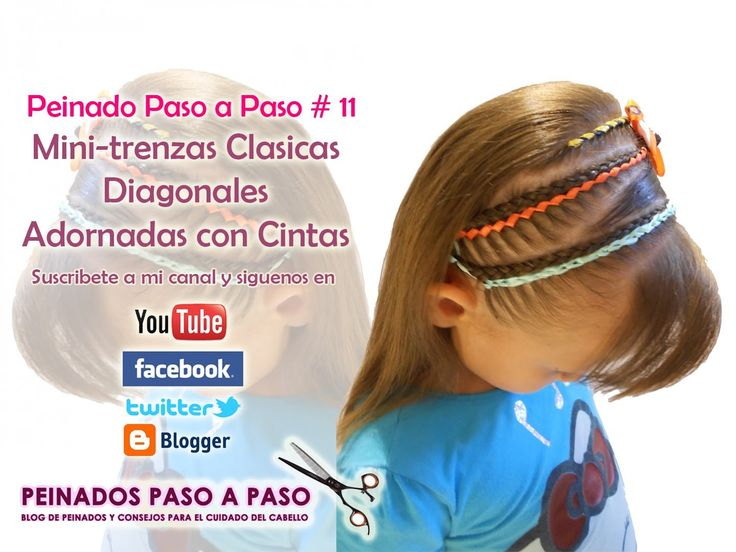 Peinado Paso a Paso # 11 - Mini-trenzas Clásicas Diagonales Adornadas co...