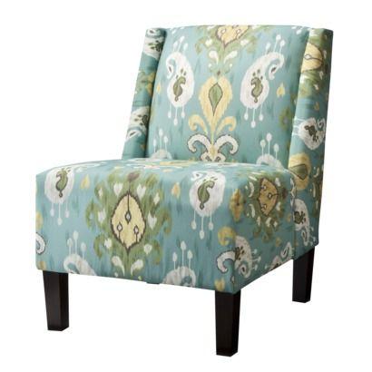 Hayden Armless Chair - Ikat Seaglass