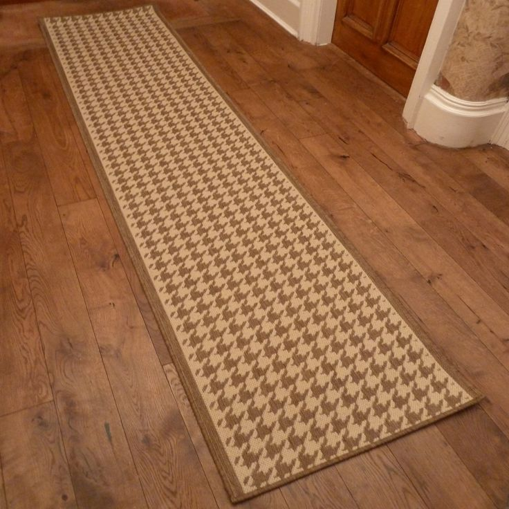 beige hallway carpet runner houndstooth