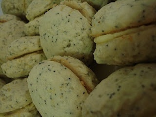 lemon poppy seed sandwich cookies | Bon Appetit Desserts | Pinterest