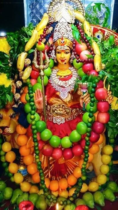 Shakambari Devi - TemplePurohit.com  Shakambari is the goddess of vegetarian prasada; She is the Bearer of Greens. Shaaka means vegetables; ambari means the one who bears; bhri means to nourish. As Durgas manifestation Shakambari gives food to the hungry during famine. Indeed in mythology as Aadi Parashakti Shakambhari kills the demon Durgam and manifests as Durga. Shakambhari is also known as Goddess Satakshi meaning one who has countless eyes. That is a reference to the Shambhari who was…